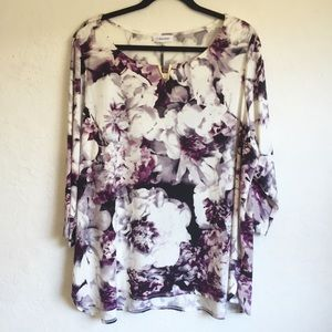 Calvin Klein Floral Blouse 2X